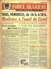 Force Ouvriere N°143 du 23/09/1948 - Couverture - Format classique