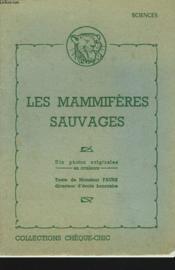 Les Mammiferes Sauvages - Couverture - Format classique
