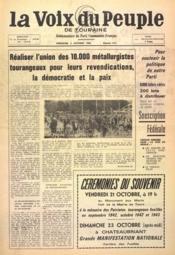 Voix Du Peuple De Touraine (La) N°1315 du 09/10/1966 - Couverture - Format classique