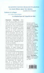 Chamonix mont blanc - 4ème de couverture - Format classique