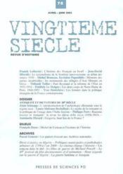 Revue Vingtieme Siecle N.78 - Couverture - Format classique