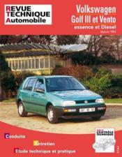 Rta 720.2 Vw Golf Et Vento (92-96) - Couverture - Format classique