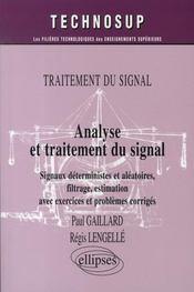 Analyse et traitement du signal - Intérieur - Format classique