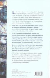 Les relations ethniques en question ; ce qui a changé depuis le 11 septembre 2001 - 4ème de couverture - Format classique