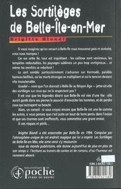 Les sortileges de belle-ile-en-mer - 4ème de couverture - Format classique