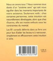 81 Facons De Developper Son Intuition - 4ème de couverture - Format classique