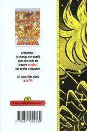 Les chevaliers du zodiaque t.28 - 4ème de couverture - Format classique