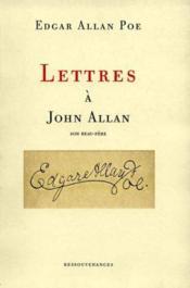 Poe lettres a john allan son beau-pere - Couverture - Format classique