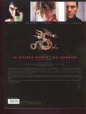 Le Baiser Mortel Du Dragon - 4ème de couverture - Format classique