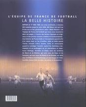 L'Equipe De France De Football ; La Belle Histoire - 4ème de couverture - Format classique