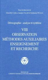 Traite de demographie. observation, methodes auxiliaires, enseignemen - Couverture - Format classique