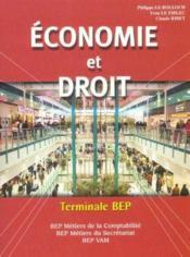 Economie -Droit Terminale Bep/Le Fiblec - Couverture - Format classique
