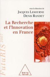 La recherche et l'innovation en France - Intérieur - Format classique