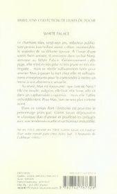 White palace - 4ème de couverture - Format classique