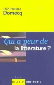 Qui a peur de la littérature ? - Intérieur - Format classique
