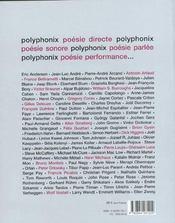 Polyphonix (+ dvd) - 4ème de couverture - Format classique