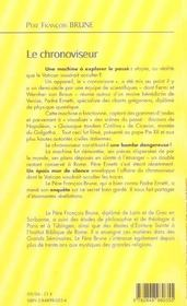 Chronoviseur - 4ème de couverture - Format classique