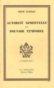 Autorite Spirituelle - Couverture - Format classique