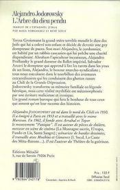 Arbre Du Dieu Pendu (L') - 4ème de couverture - Format classique