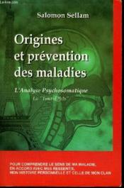 Origines Et Prevention Des Maladies - Couverture - Format classique