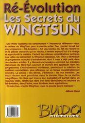 Les secrets du wingtsun ré-évolution - 4ème de couverture - Format classique
