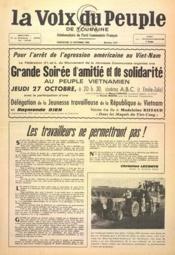 Voix Du Peuple De Touraine (La) N°1317 du 23/10/1966 - Couverture - Format classique