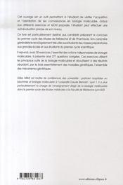 Exercices corrigés et commentés de biologie moléculaire - 4ème de couverture - Format classique