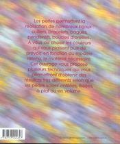 Bijoux en perles - 4ème de couverture - Format classique