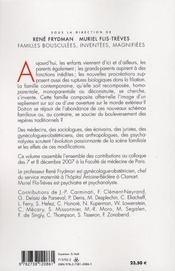 Familles bousculées, inventées, magnifiées - 4ème de couverture - Format classique