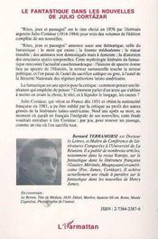 Le Fantastique Dans Les Nouvelles De Julio Cortazar - 4ème de couverture - Format classique