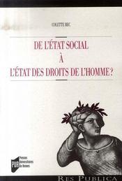 De l'état social à l'état des droits de l'homme ? - Intérieur - Format classique