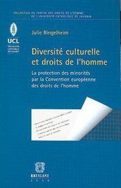 Diversité culturelle et droits de l'homme - Intérieur - Format classique