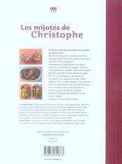 Les mijotes de christophe - 4ème de couverture - Format classique