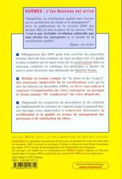 Maitriser La Qualite ; Tout Sur La Certification Et La Qualite Totale ;Selon Les Nouvelles Normes Iso 9001 Et Iso 9004 - 4ème de couverture - Format classique