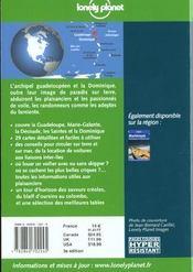 Guadeloupe Et Dominique ; 3e Edition - 4ème de couverture - Format classique