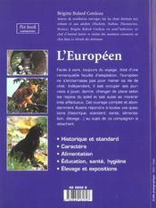 L'européen - 4ème de couverture - Format classique