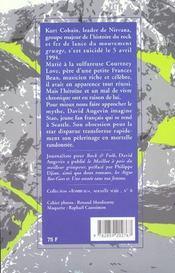 Kurt cobain - 4ème de couverture - Format classique