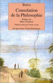 Consolation De La Philosophie - Intérieur - Format classique