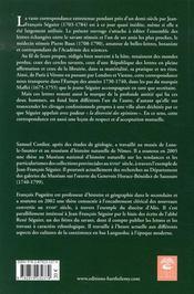 Jean-françois séguier-pierre baux ; lettres, 1733-1756 - 4ème de couverture - Format classique