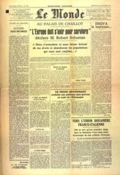 Monde (Le) N°1143 du 29/09/1948 - Couverture - Format classique
