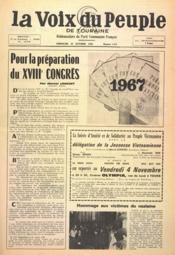 Voix Du Peuple De Touraine (La) N°1318 du 30/10/1966 - Couverture - Format classique