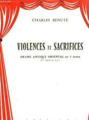 Violences Et Sacrifices - Couverture - Format classique