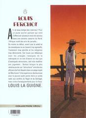 Louis Ferchot t.4 ; le chasseur - 4ème de couverture - Format classique
