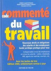 06 Code Commente Du Travail - Intérieur - Format classique