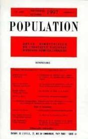 Population 1997 N.5 Sept.Octobre - Couverture - Format classique