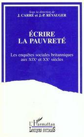 Ecrire La Pauvrete - Intérieur - Format classique