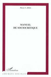 Manuel De Sociocritique - Intérieur - Format classique
