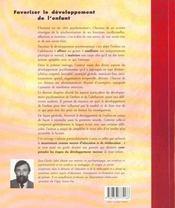 Favoriser Le Developpement De L'Enfant - 4ème de couverture - Format classique