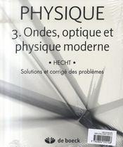 Physique t.3 ; ondes, optique et physique moderne - 4ème de couverture - Format classique