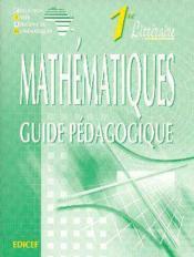 Mathematiques 1re litteraire - guide pedagogique - Couverture - Format classique